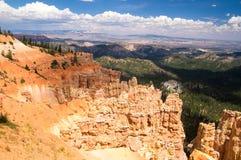 Vast landscape of Bryce Canyon National Park. Landscape of Bryce Canyon National Park in Summer Royalty Free Stock Photo