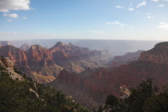 The vast landscape of the Grand Canyon Stock Photography