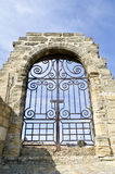 Vast medieval gateway Royalty Free Stock Images