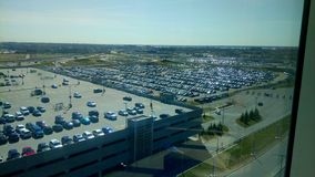 Vast Montreal airport car parking royalty free stock images