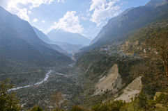 Vast mountain valley Stock Images