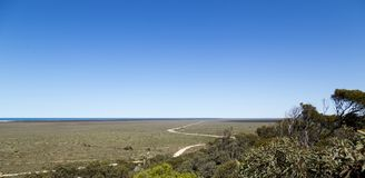 Vast Nullabor Plains in Australia stock photography