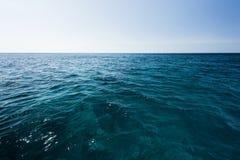 The vast ocean and dark blue sea Royalty Free Stock Image