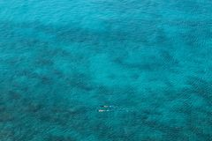 Vast ocean with two snorkelers Stock Images