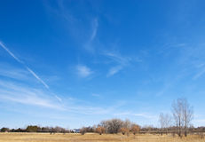 Vast Open Sky Over the Colorado Prairie Royalty Free Stock Photos
