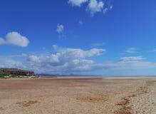 The vast sandy beaches of Fuerteventura at low tide Stock Photos