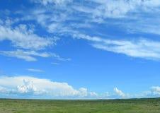 Vast savanna in Namibia, Africa Stock Photography