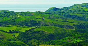 Vast. Tayid lighthouse and mahatao hedgerows Royalty Free Stock Photos