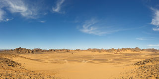 Vast Valley in the Akakus Mountains, Sahara, Libya Royalty Free Stock Photo