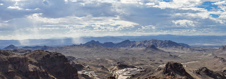 Vast and wide fields of wild west panorama Stock Photography