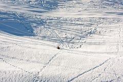 Vast winter landscape with tracks. Vast winter landscape with many tracks Stock Photography