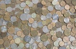 Vasta gamma delle monete russe differenti Immagine Stock Libera da Diritti