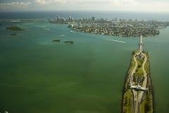 Vista aerea sopra Miami Fotografie Stock Libere da Diritti