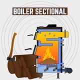 Vaste brandstofboiler in de sectie Royalty-vrije Stock Afbeelding