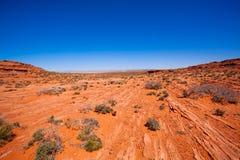 Vaste désert près des canyons du fleuve Colorado, Etats-Unis Photos stock