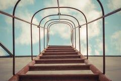 Vaste ladder tot hemel stock foto's