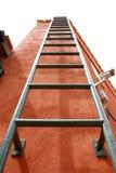 Vaste rode ladder Stock Foto
