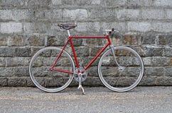 Vaste toestelfiets - fiets Fixie royalty-vrije stock fotografie