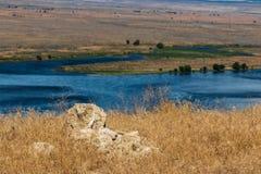Vaste vue orientale le fleuve Columbia de désert d'étendue de Washington Palouse photos libres de droits