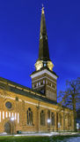 Vasteras Cathedral in evening, Sweden Royalty Free Stock Photos