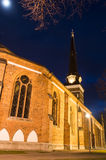 Vasteras Cathedral in winter evening Royalty Free Stock Image