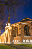 Vasteras Cathedral in winter evening Stock Photos