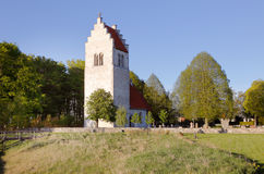 Vasterhejde church building Royalty Free Stock Images