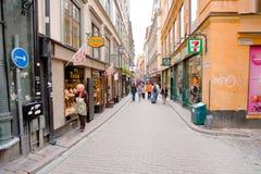 Vasterlanggatan street in Stockholm Royalty Free Stock Photo