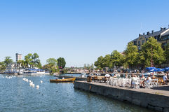 Vastervik inner harbour Royalty Free Stock Photos