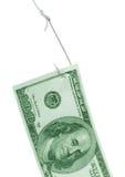 Vastgehaakte dollar Royalty-vrije Stock Foto's