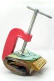Vastgeklemd Papiergeld royalty-vrije stock afbeelding