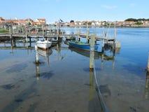 Vastgelegd bij de pier stock afbeelding