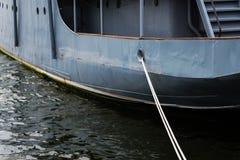 Vastgelegd geroest schip royalty-vrije stock afbeeldingen