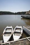 Vastgelegde boten Stock Afbeeldingen