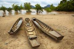 Vastgelegde boten Royalty-vrije Stock Afbeelding
