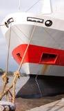 Vastgelegde schipboog die ladingsmaat en anker toont Stock Afbeelding