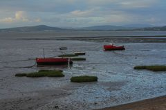 Vastgelopen boten Royalty-vrije Stock Foto's