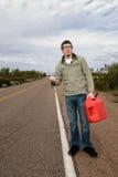 Vastgelopen zonder gas Stock Foto's