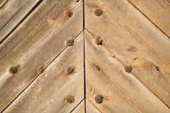 Vastgenageld hout royalty-vrije stock foto