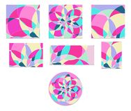 Vastgesteld Abstract patroon met multi-colored delen Vector Illustratie