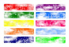 Vastgesteld Bannersweb of oorspronkelijke Webkopbal, kleurrijk, Royalty-vrije Stock Afbeelding