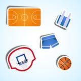 Vastgesteld basketbal Royalty-vrije Stock Afbeeldingen