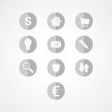 Vastgesteld bedrijfswebpictogram Royalty-vrije Stock Afbeeldingen