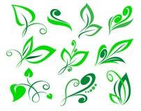 Vastgesteld bloemenontwerpelement Vector illustratie Royalty-vrije Stock Foto's