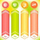 Vastgesteld de lentethema van de vitamine verticaal banner Stock Afbeelding