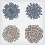 Vastgesteld decoratief patroon Stock Afbeeldingen
