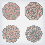 Vastgesteld decoratief patroon Stock Afbeelding