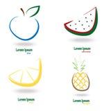 Vastgesteld eenvoudig vers fruit Stock Fotografie