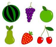 Vastgesteld fruit Royalty-vrije Stock Afbeeldingen