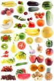 Vastgesteld fruit, geïsoleerdee groenten Stock Afbeeldingen
